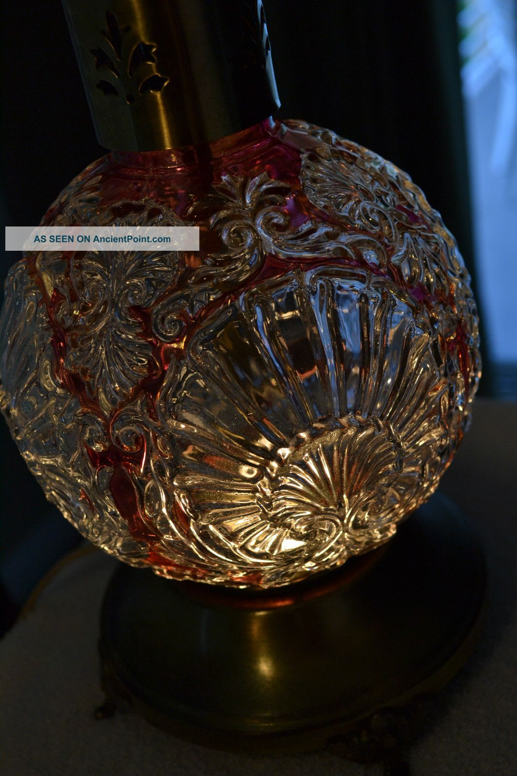 antique crystal table lamps photo - 7
