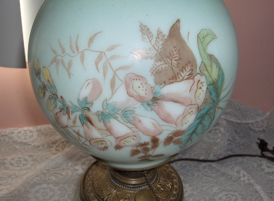 antique glass lamp globes photo - 3