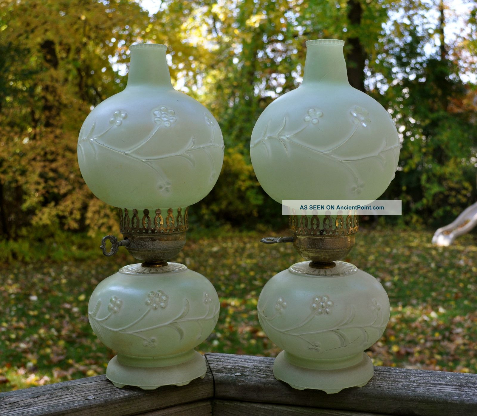 antique glass lamp globes photo - 4
