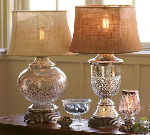 antique glass table lamps photo - 1