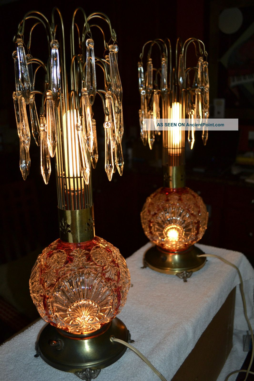 antique glass table lamps photo - 4