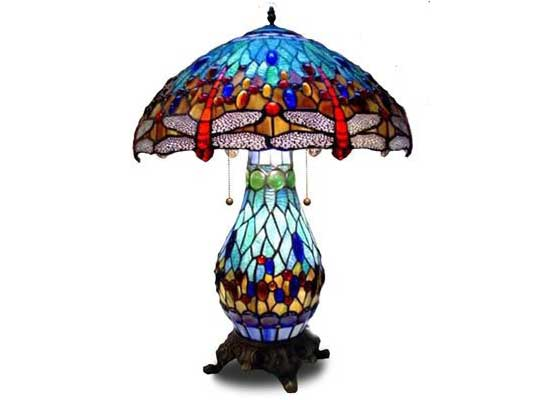 antique glass table lamps photo - 5
