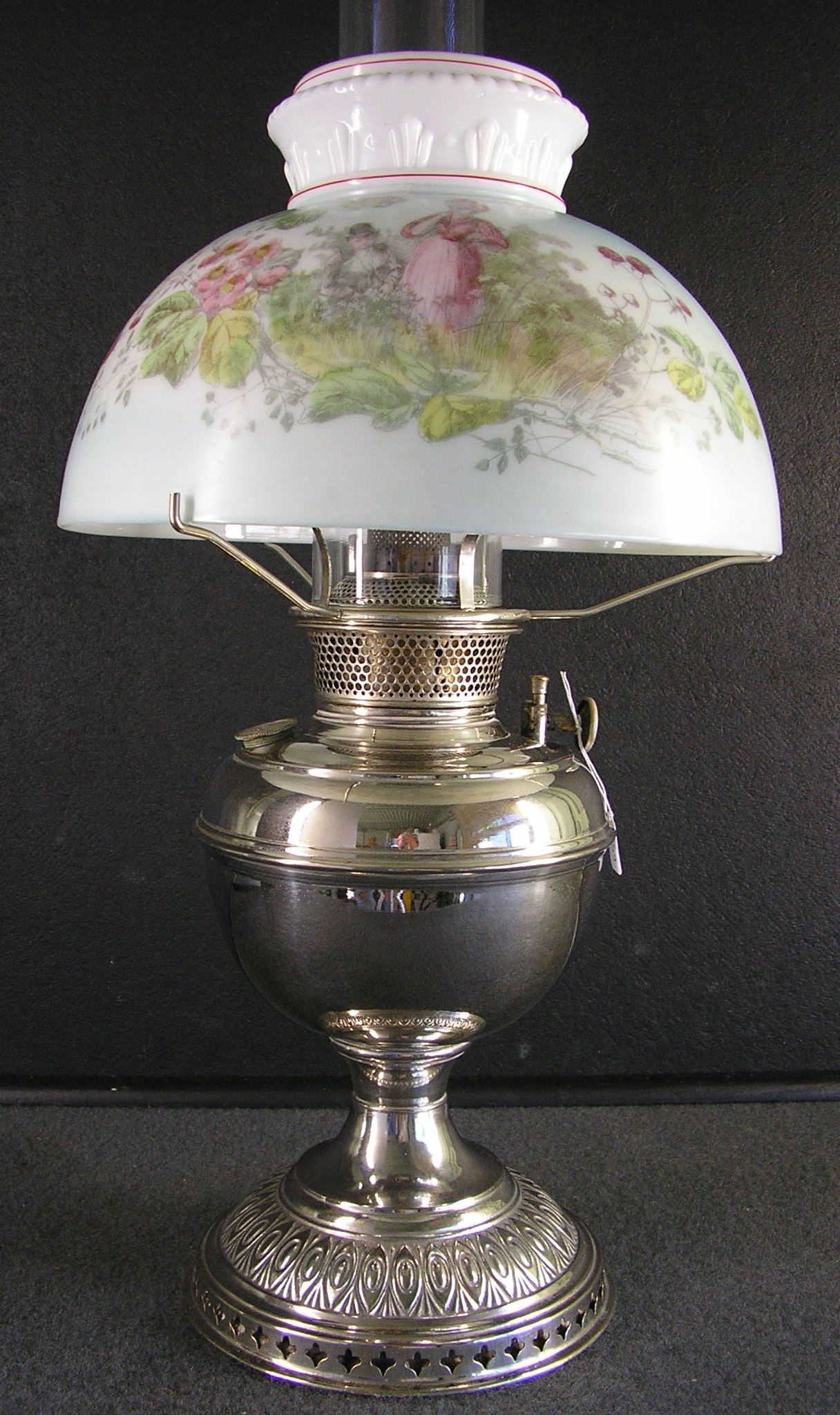 antique glass table lamps photo - 8
