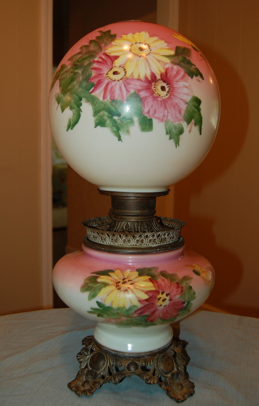 antique globe lamps photo - 1