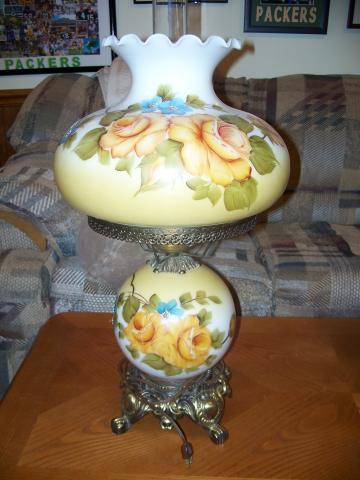 antique globe lamps photo - 4