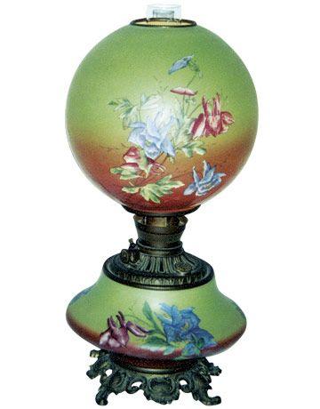 antique kerosene lamps photo - 2