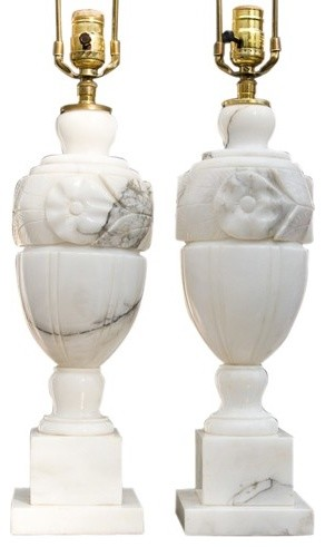 antique marble lamps photo - 3