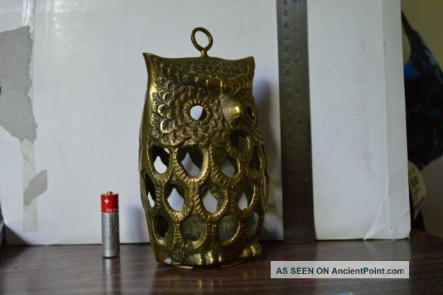 antique owl lamp photo - 1