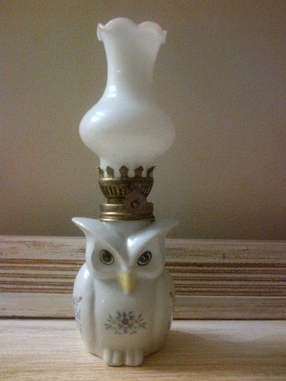 antique owl lamp photo - 5