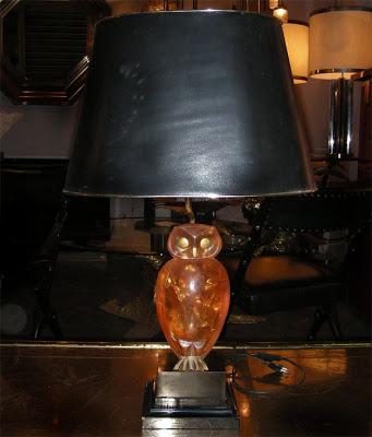 antique owl lamp photo - 6