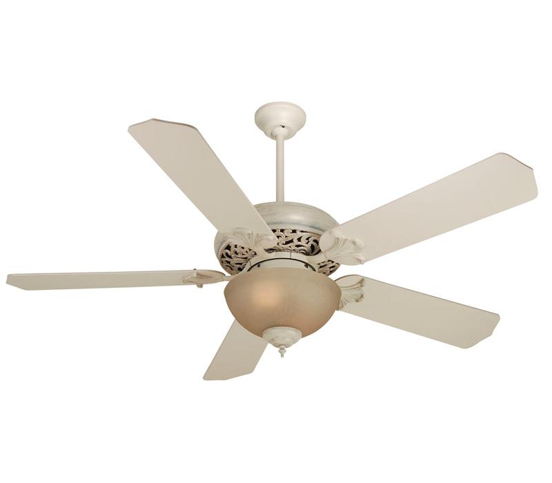 antique white ceiling fan photo - 1