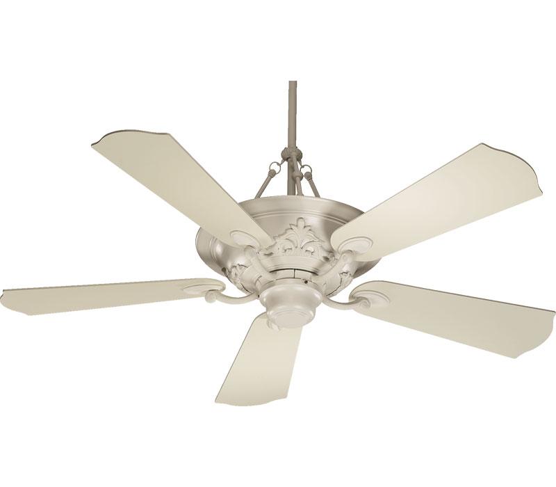 antique white ceiling fan photo - 3