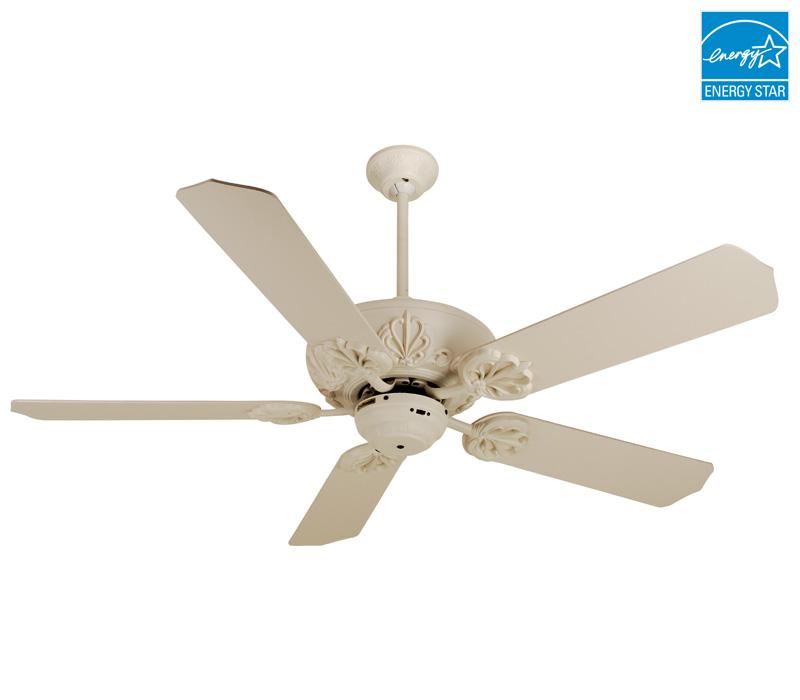 antique white ceiling fan photo - 4