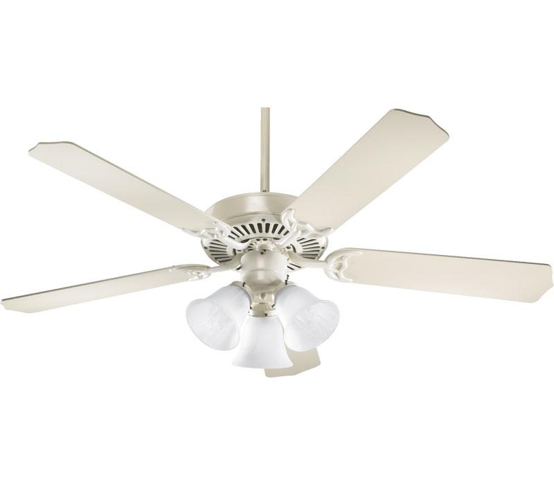 antique white ceiling fan photo - 5