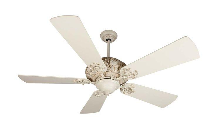 antique white ceiling fan photo - 6