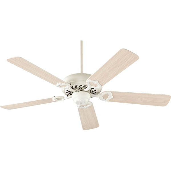 antique white ceiling fan photo - 7
