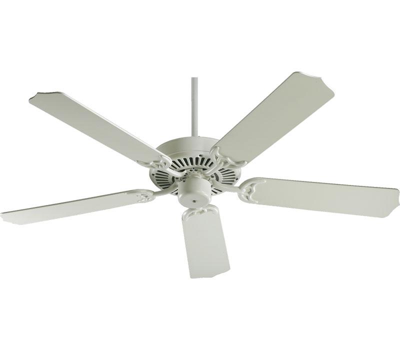 antique white ceiling fan photo - 9