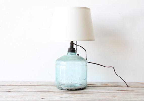 aqua glass lamps photo - 1