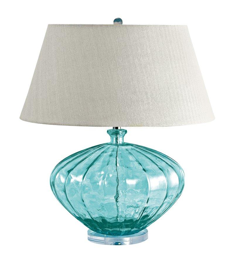 aqua glass lamps photo - 2