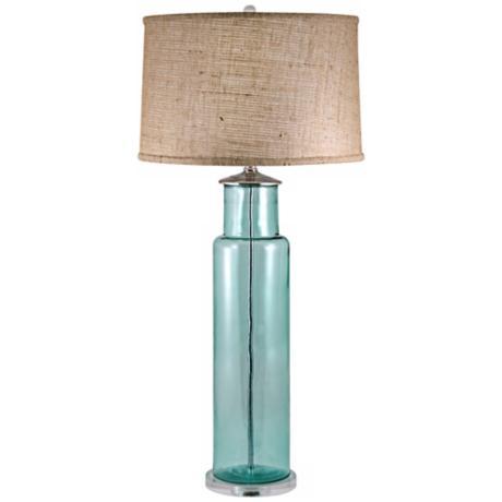 aqua glass lamps photo - 4