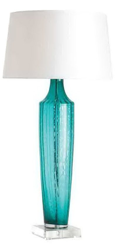 Add Elegance To Your Room With Aqua Glass Lamps Warisan