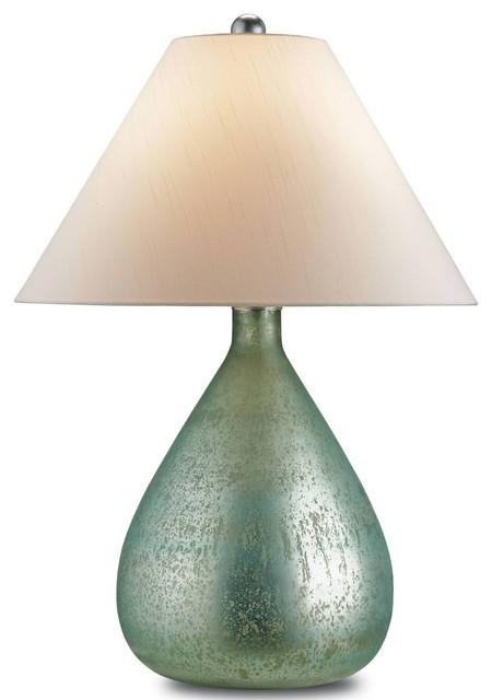 aqua glass lamps photo - 7