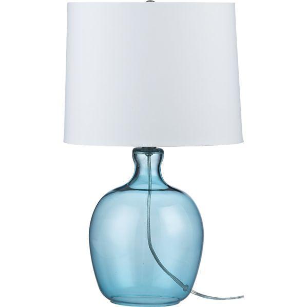 aqua glass lamps photo - 8