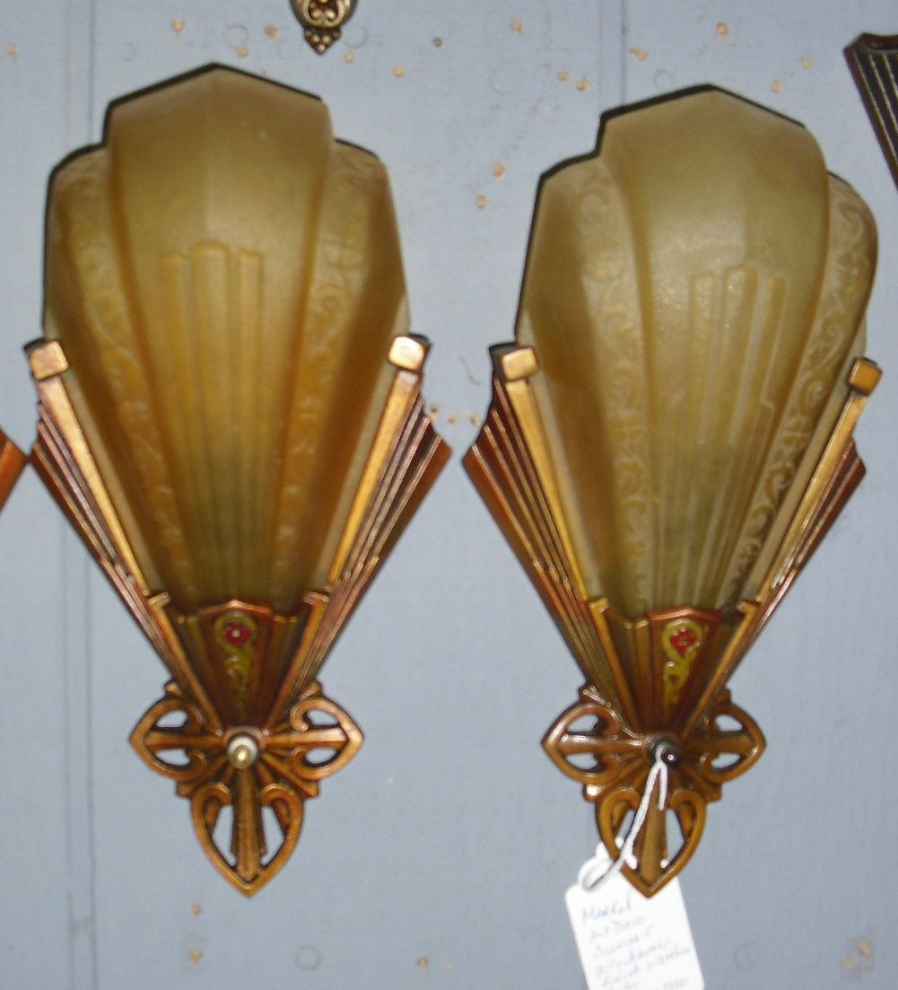 art deco bathroom wall lights photo - 6