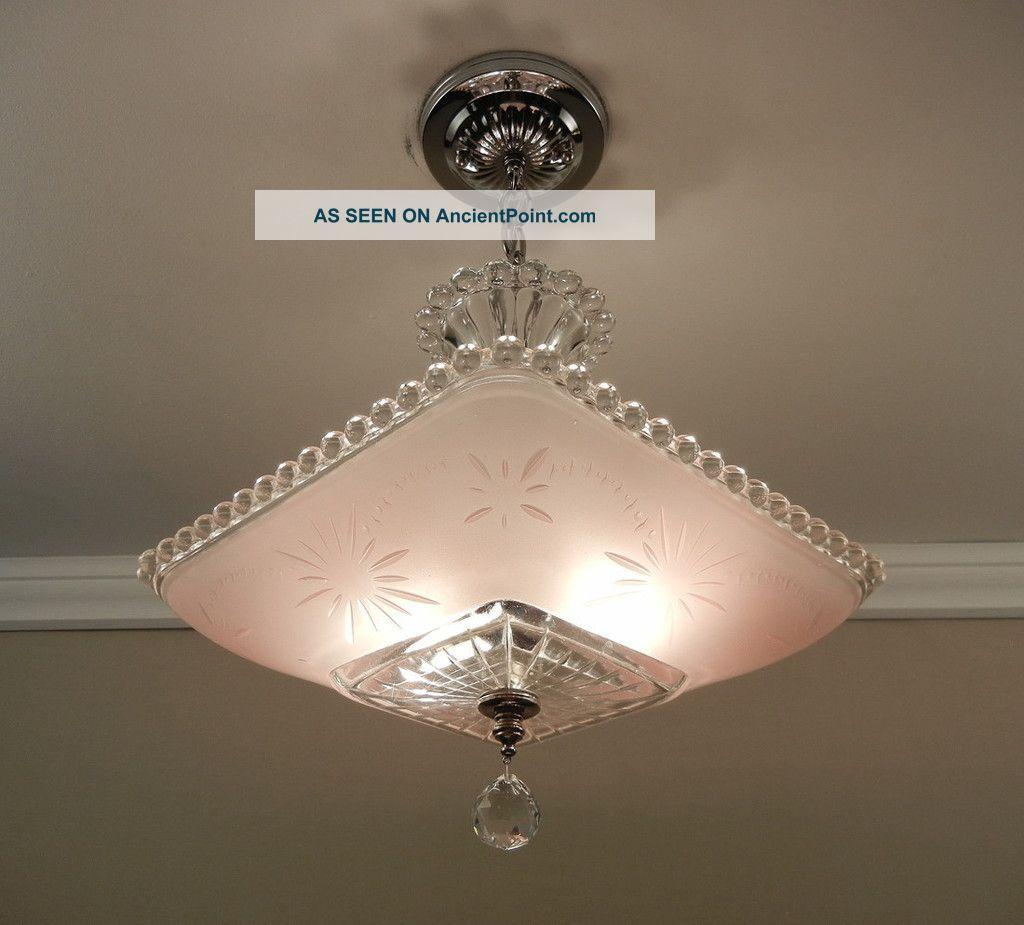 art glass ceiling lights photo - 4