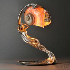 Art nouveau table lamps | Warisan Lighting:art nouveau table lamps photo - 2,Lighting