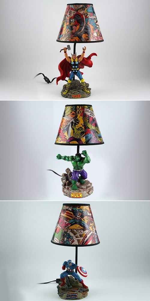 Avengers Lamp Can Add A Unique Taste Of Fun And Colorful