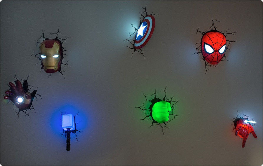avengers led wall lights photo - 3