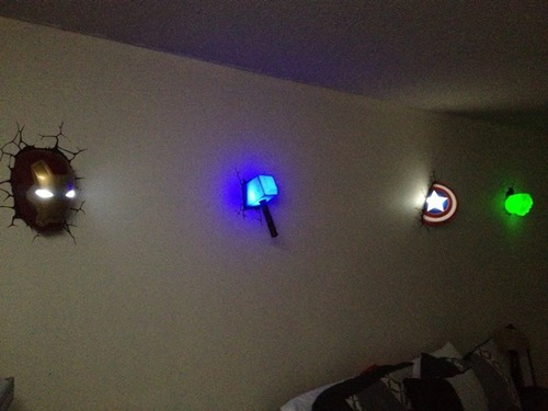 avengers led wall lights photo - 5