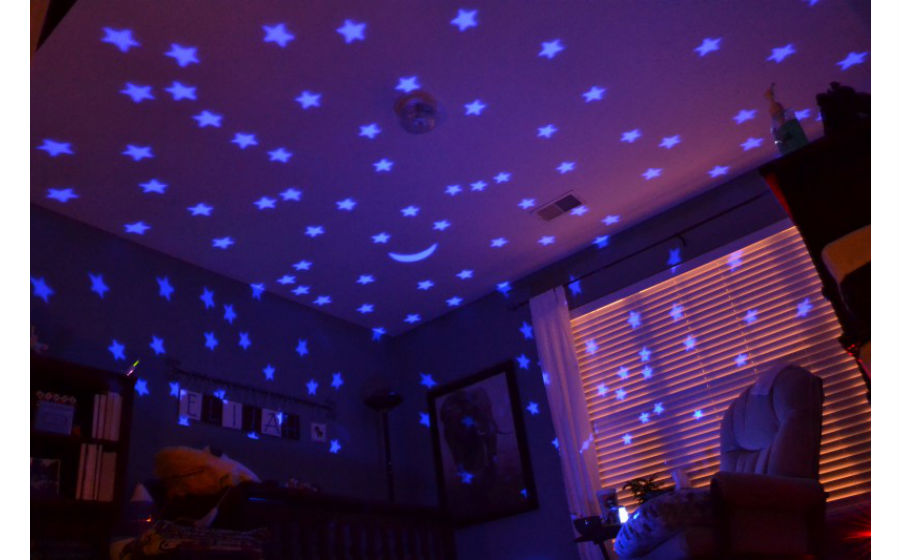 baby night light ceiling projector photo - 2