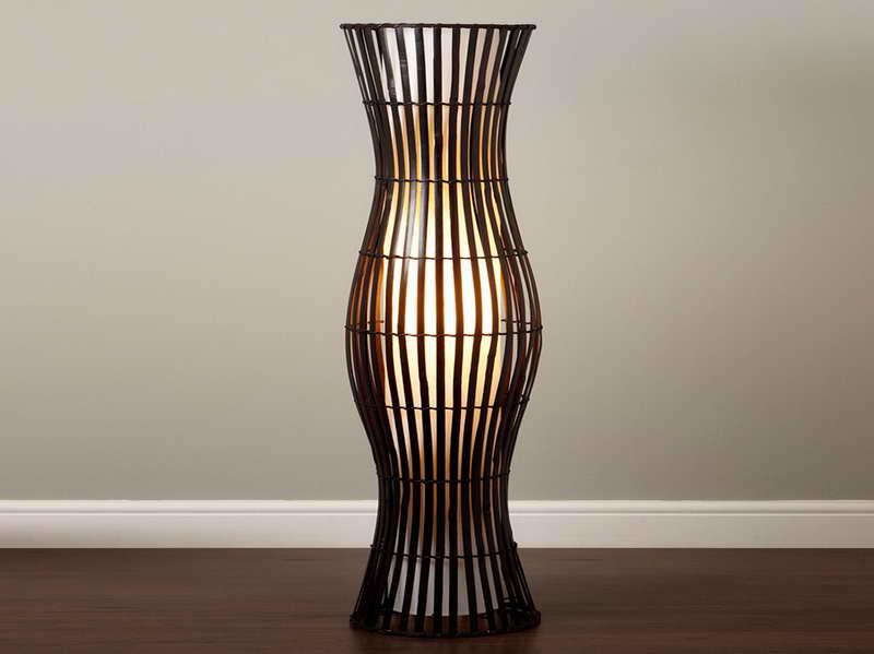 bamboo floor lamps photo - 2