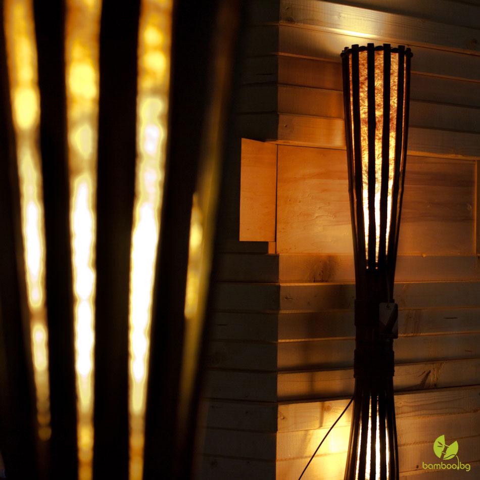 bamboo floor lamps photo - 5