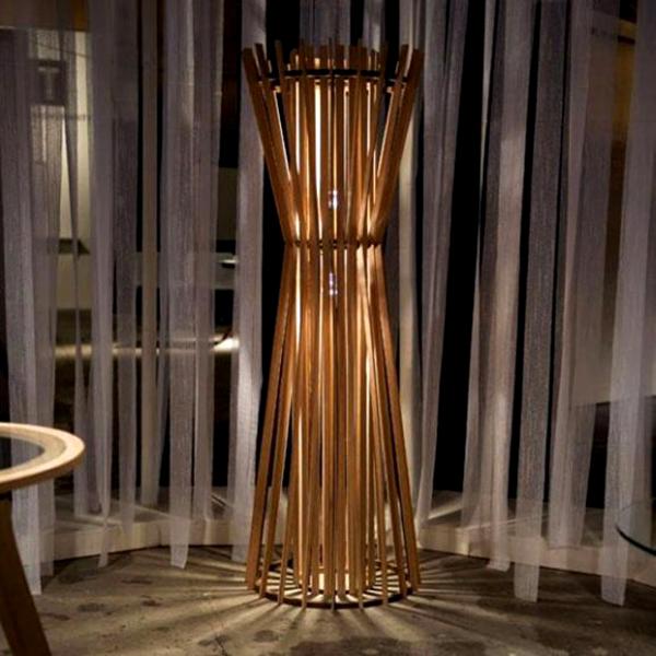 bamboo table lamp photo - 1