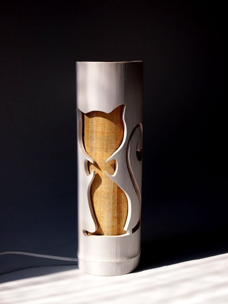 bamboo table lamp photo - 10