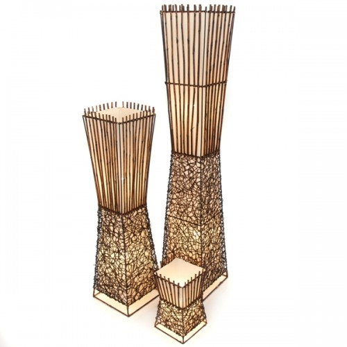 bamboo table lamp photo - 5