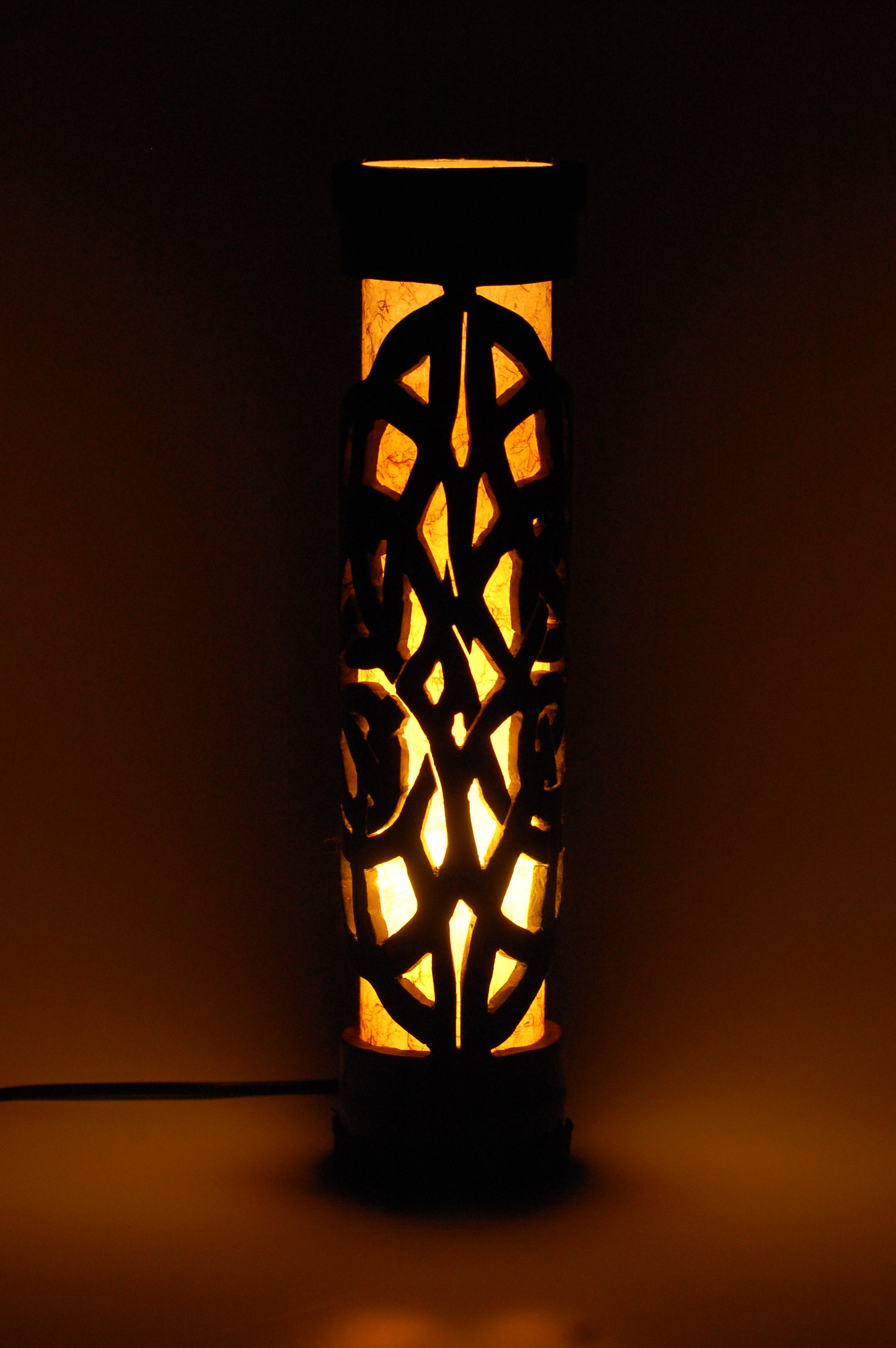 bamboo table lamp photo - 6