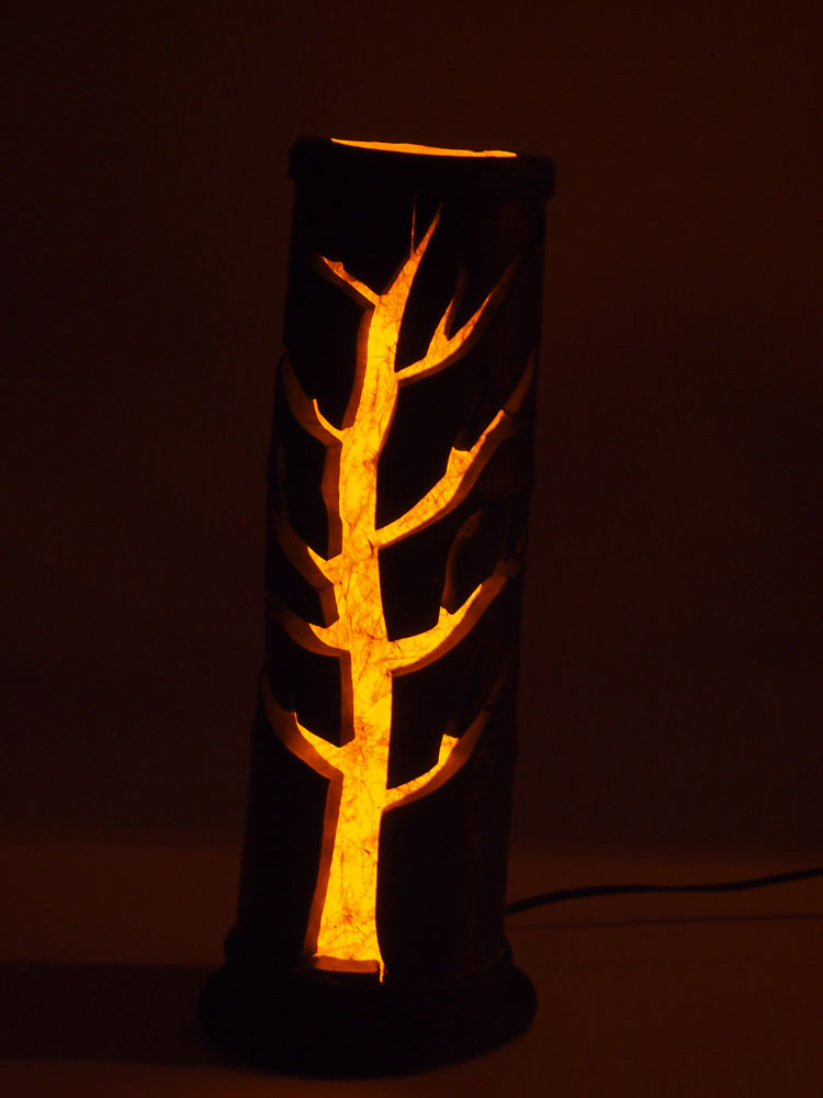 bamboo table lamp photo - 9