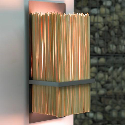 bamboo wall lights photo - 2
