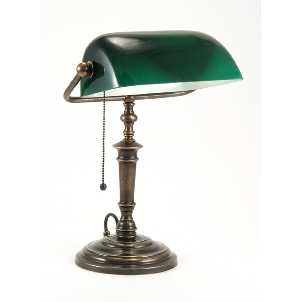bankers lamp green photo - 1