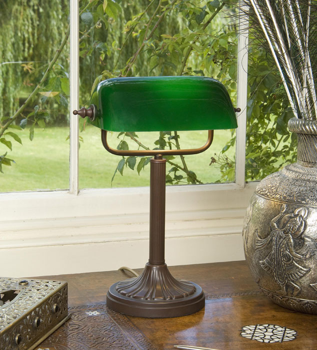 bankers lamp green photo - 10