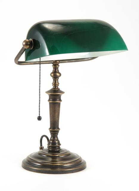 bankers lamp green photo - 5