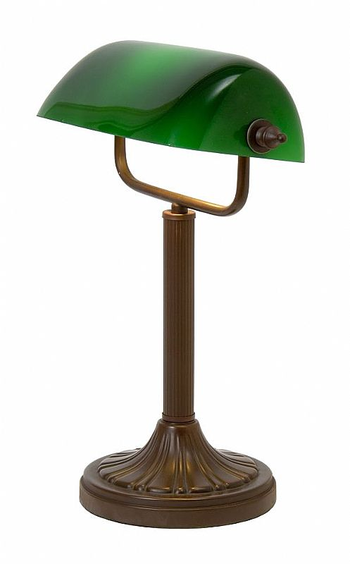 bankers lamp green photo - 8