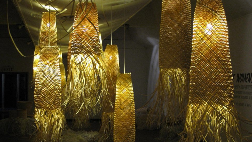 basket lamp photo - 1