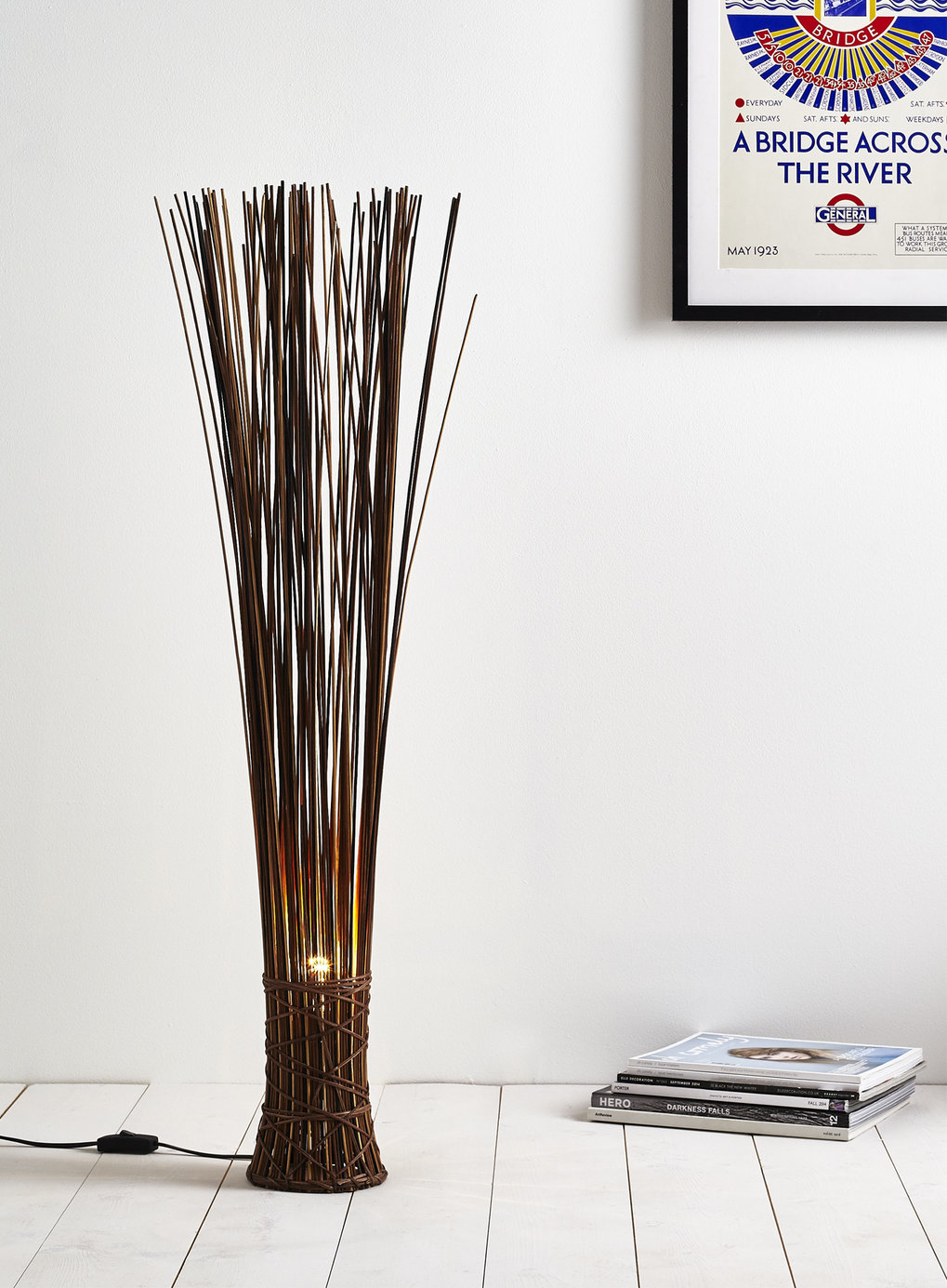basket lamp photo - 2