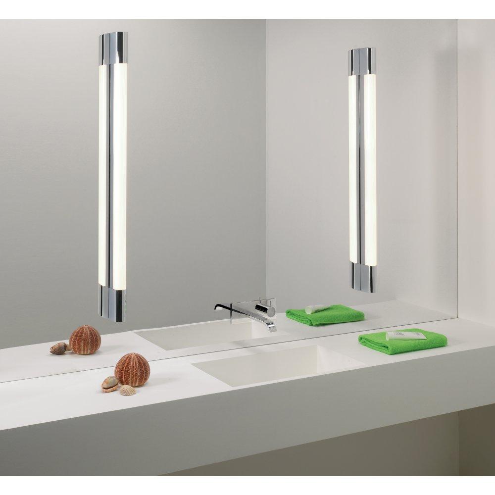 bathroom wall mirrors with lights photo - 5