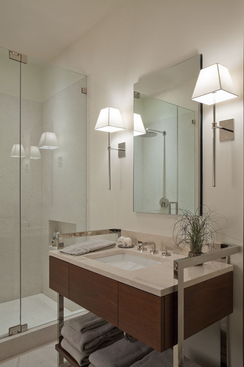 Make yourself glow with 16 amazing bathroom wall mirrors with lights warisan lighting Bathroom sconce lighting ideas